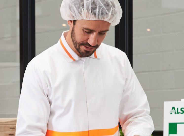 White food coat with trim2